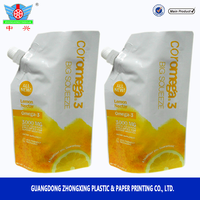 Custom stand up spout bag for fruit juice packaging bag
