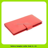 14333 Pink Color multiple genuine leather coin purse for girls