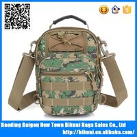 Multifunction small size canvas camo military backpack single strap backpack chest sling bag handle bag