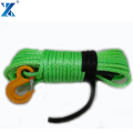 High strength 4x4 off-road synthetic winch rope with hook packed in full set