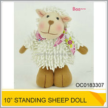 "Lovely Top Qulity 10"" Stuffed Standing Sheep Doll Toy For Kids OC0183307"