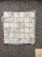 wholesale art deco porcelain floor tile mosaic , rustic moroccan kitchen stone mosaic tile