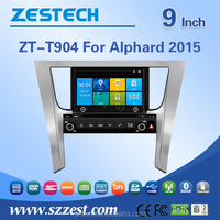 9 inch car headrest dvd player with wireless game For TOYOTA ALPHA 2015 with CE EMC LVD FCC
