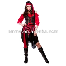Shipwrecked Pirate Ladies Fancy Dress Costume Pirates Themed Party Outfit BW1016