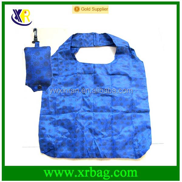 Custom promotional gift nylon foldable shopping bag