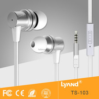 Super bass stereo in-ear metal case earphones with deep bass and mic