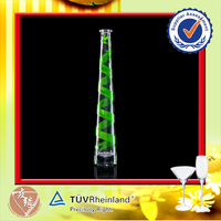 Hot Sale Special Decal Green 50ml Fancy Glass Bottle Drink