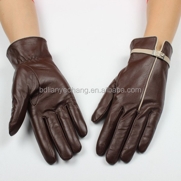 Wholesale factory supply 2016 fashion cheap womens dress deerskin leather gloves