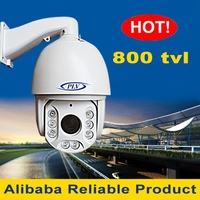 "i r waterproof 100m ir night vision ptz cctv analog 1/3""cmos camera ptz dome"