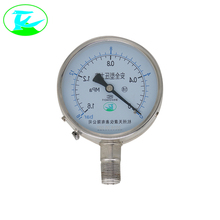 High quality stainless steel brass internal biogas pressure gauge price