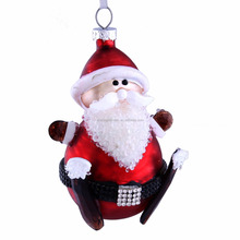 new style promotional Acrylic Christmas decorations santa with sled