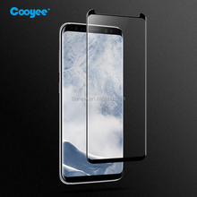Case friendly 3D curved tempered glass with silk print border for Galaxy S8 & S8 Plus