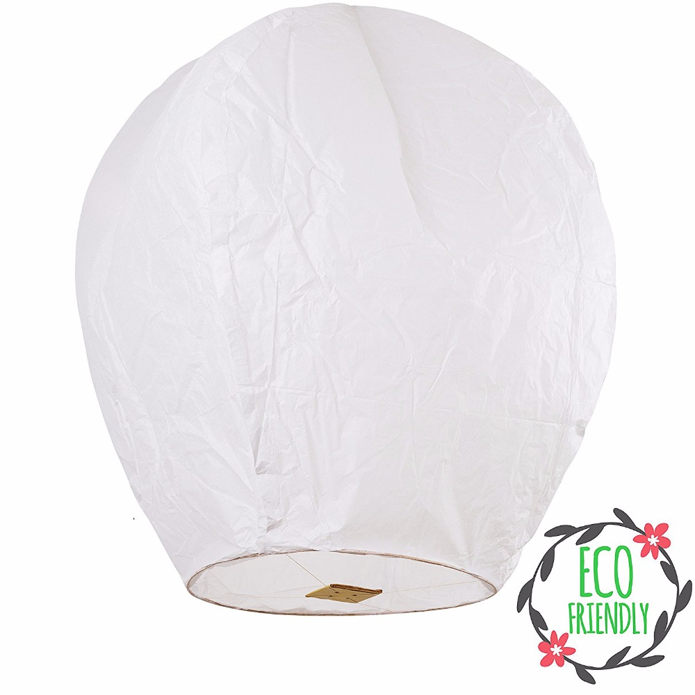 100% Biodegradable Chinese wishing Fireproof No Fire Flame cheap custom Wholesale paper sky lantern