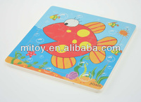Custom Fish Jigsaw Puzzle Educational Wooden Toys