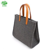 Latest design superior quality lady felt tote bag wholesale handbags