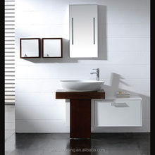 White Gloss Bathroom Vanity Unit Basin Sink Compact Cloakroom Cabinet