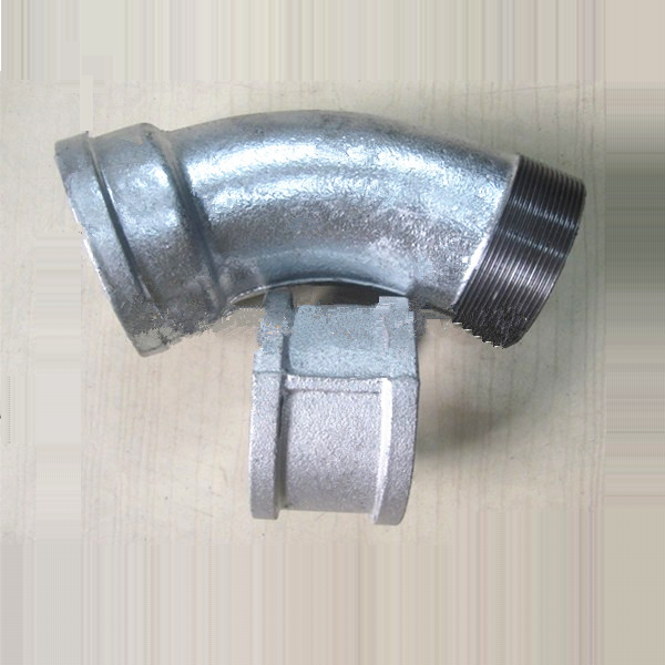 Galvanized MI pipe fitting Cast iron fittings-ASTAM A 197 material