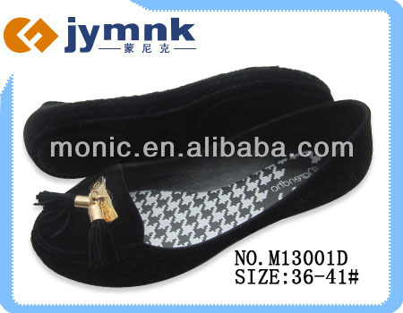 2014 New Fashion PVC Flocking Jelly Shoe Wholesale