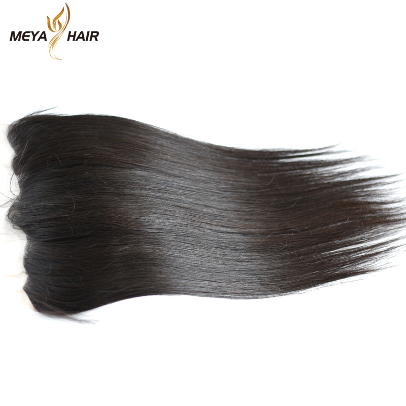 Wholesale mooth 13x4 Straight grade mink Lace Frontal virgin Indian human cuticle aligned hair