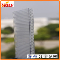 Wholesale Products China PC twin wall roofing panel plastic honeycomb clear