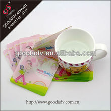 Factory manufacture Low price pp coaster eco-friendly clear plastic coaster