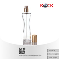 Hot sales 50ml empty glass perfume bottle,high quality spray glass bottle with aluminum cap_104550