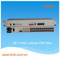 PDH MUX 4E1+4GE with the orderwire phone +SNMP,LCD,pdh multiplexer