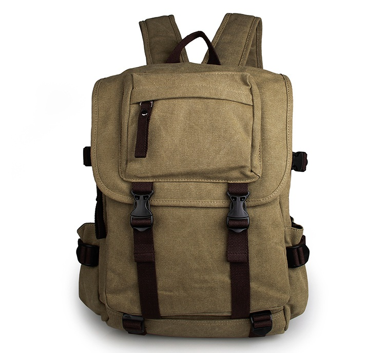 9023N J.M.D Whole Top Grade Army Green Tote Bag Multifunctional Canvas School Backpack