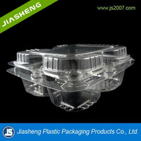 Factory plastic divided biscuit packaging container