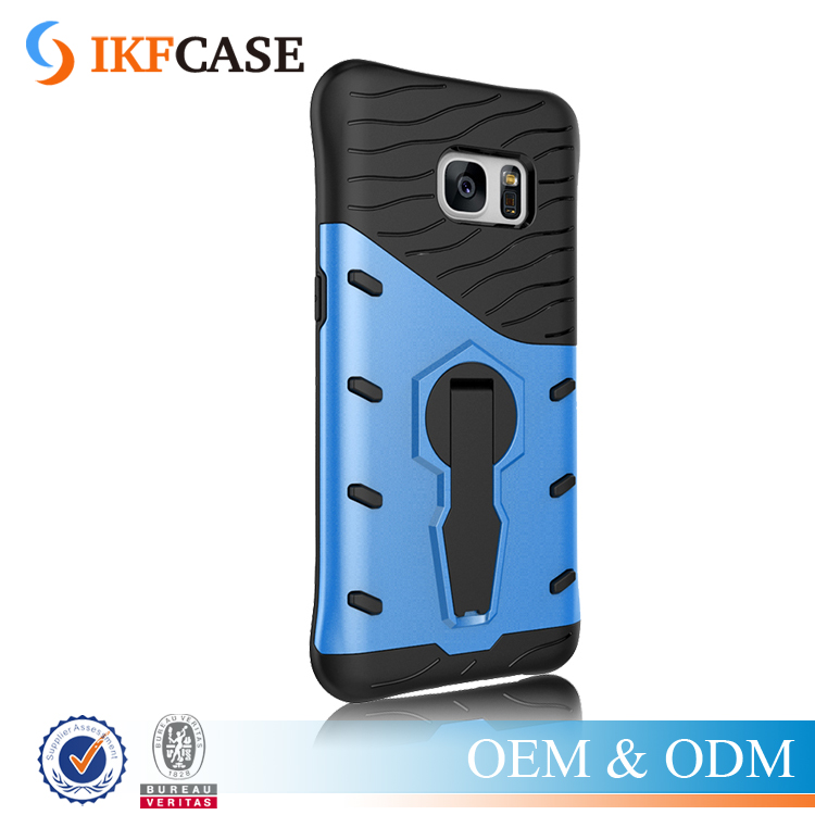 Hybrid Armor Silicone Holder Case for Samsung Galaxy S7 G9300 TPU+PC Prevent scratch Case with 360 Degree Rotation Holder