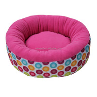 Different styles fashion design plush fabric plain bed dog bed strong