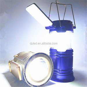 3 in 1 Folding solar camping lantern with folding side light G5888