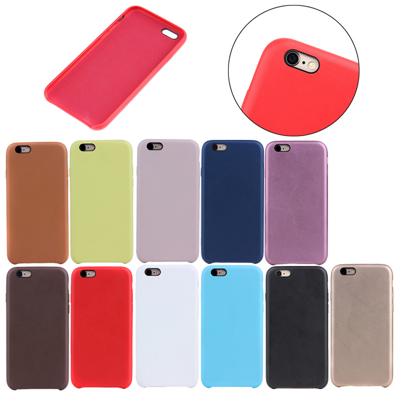 Original Ultra thin Slim soft Leather back cover case for apple iphone 6/6S