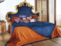 AF-2877-luxury furniture classic wooden king size bed wooden carved bed frame