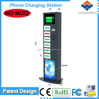 Logo/Brand customzied Cell station, vending phone charging locker for restaurant, mobile phone lockers APC-06A