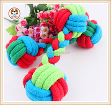 New candy color cotton rope dumbbell 22 * 7 cm pet toys pet products