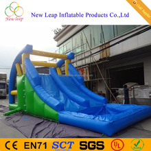 waterwheel shape climb and slide inflatable water slide