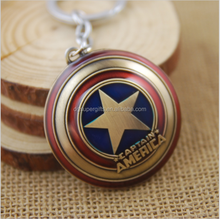 Super Hero The Avengers Captain America Shield Metal Keychain Pendant Key Chains
