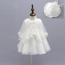 Baby Newborn Girl Princess Wedding Party Dresses Flower Christening Dress Baptism Outfit