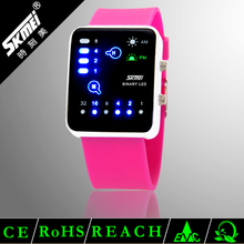 low cost beautiful digital binary touch screen led watch