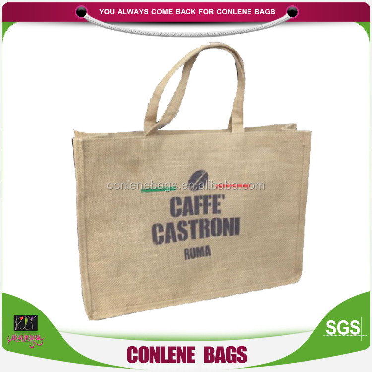 China Wholesale Shops Jute Hessian Bags