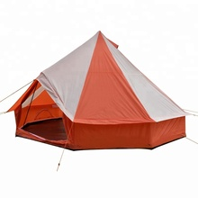 5 meter ultra light pyramid round bell tent for 10 person with 210D oxford pu 2000mm DIa. 32mm steel pipe