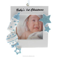 Baby Photo Frame Ornament Personalized Custom Christmas Ornaments For Baby's First Christmas