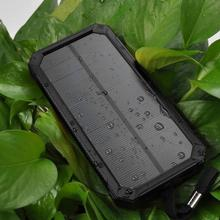 Solar Power Bank 15000mAh Dual USB Solar Panel Mobile Charger With LED Light Carabiner Water Resistant Portable Solar Charger