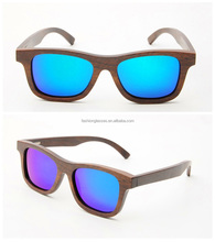 TAC lens material and UV400 wooden sunglasses with bamboo sunglasses case,made in China