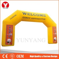 Hot Selling Yellow Custom Inflatable Arch, Welcome Inflatable Arch Rental