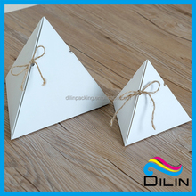 triangle pyramid shape small cake packaging box