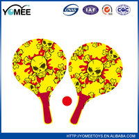 Mini toy design your own tennis funny outdoor sports plastic beach racket