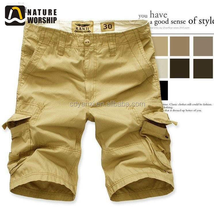 Wholesale Mens Summer Cool Half Short Pants, Outdoor Sports Jogging Cotton Pants Trousers