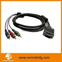 High Quality 3 RCA to VGA Splitter Converter Cable